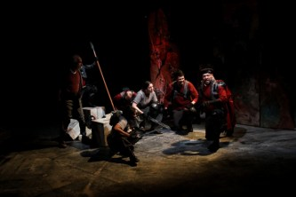 "The cast of Seattle Shakespeare Company's 2012 production of ""Coriolanus."" Photo by John Ulman."