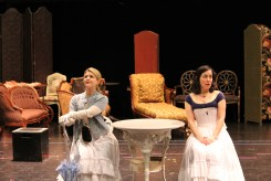 Emily Grogan as Gwendolen and Hana Lass as Cecily.
