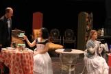 Michael Patten as Merriman, Hana Lass as Cecily and Emily Grogan as Gwendolen.