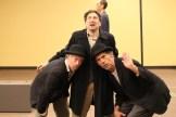 Darragh Kennan as Estragon, Chris Ensweiler as Pozzo, and Todd Jefferson Moore as Vladimir