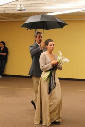 David Quicksall as Malvolio and Elinor Gunn as Olivia.