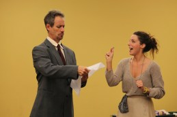 David Quicksall as Malvolio and Elinor Gunn as Olivia.