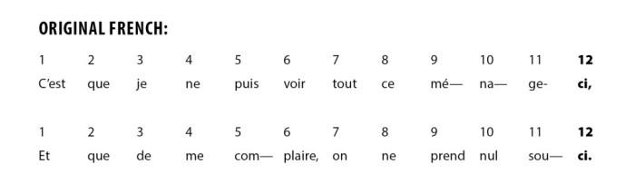 Rhyme and Rhythm - French