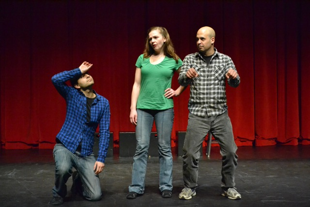 Comix jump on stage for some Unexpected Productions improv during ECCC