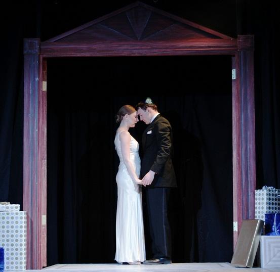 Sydney Andrews as Rachel and Ashton Hyman as Joe in Annex Theatre's UNDO. Image by Ian Johnston.