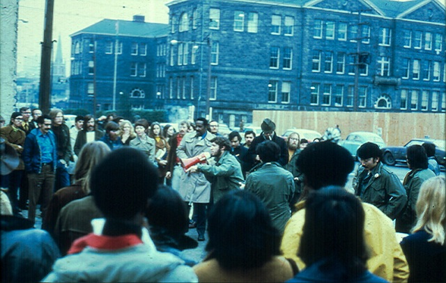 "SCCC's Oriental Student Union and their ""posse on Broadway,"" February 9, 1971"