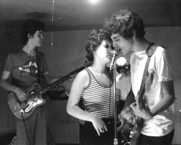 The Meyce in 1976: Paul Hood, Jennie Skirvin, Lee Lumsden, Jim Basnight Photo courtesy of Paul Hood