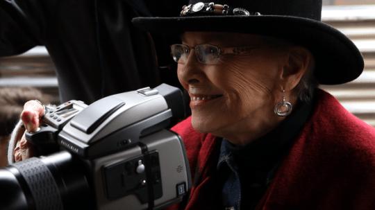 Always a camera in hand: Jini Dellaccio.