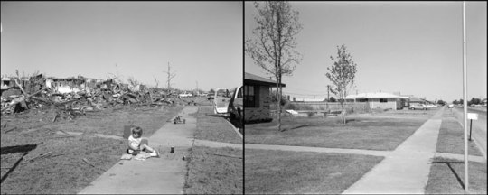 Frank Gohlke, Aftermath, No. 19A and 19B - 4679 University, looking west, 1979/1980.