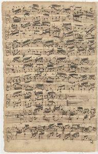 Prelude No. 1 in f, composer's manuscript.