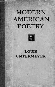 modern american poetry, 1st ed.