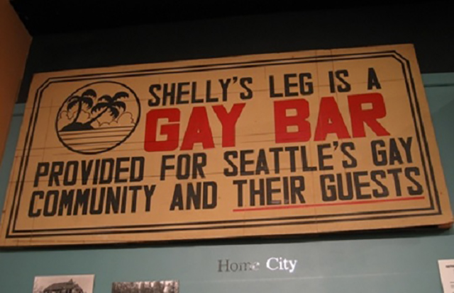 The Shelly's Leg sign, as seen at MOHAI Museum of History & Industry