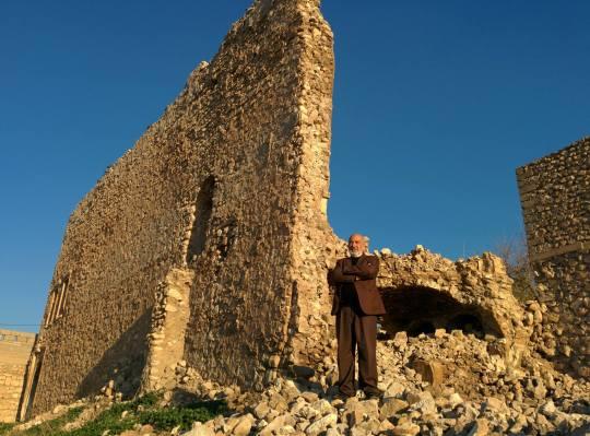 Salem at the Castle of Mir Ali.Photo by John Murphy.