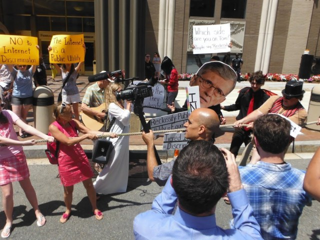 Scenes from the Save the Internet Musical Action outside the FCC.Photo Credit: Free Press. Licensed CC-BY-NC-SA.