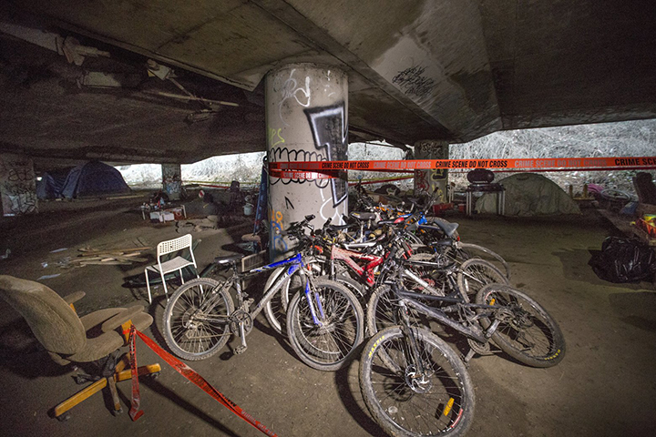 Seattle under the Freeway of Greed Mike Siegel / The Seattle Times