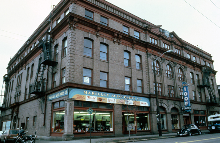 Capitol Hill's Odd Fellows Temple building circa 1977 Norie Sato
