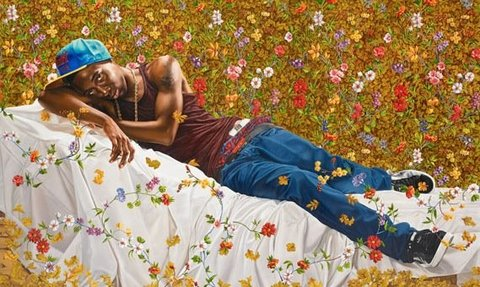 """Kehinde Wiley's """"Morpheus"""", image courtesy of the Seattle Art Museum"""