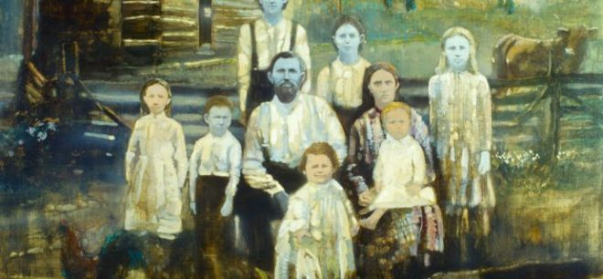 The Blue People. Painting by Walt Spitzmiller.