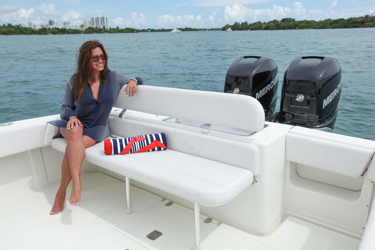 boat chairs folding deck red outdoor center console 320 details seavee boats