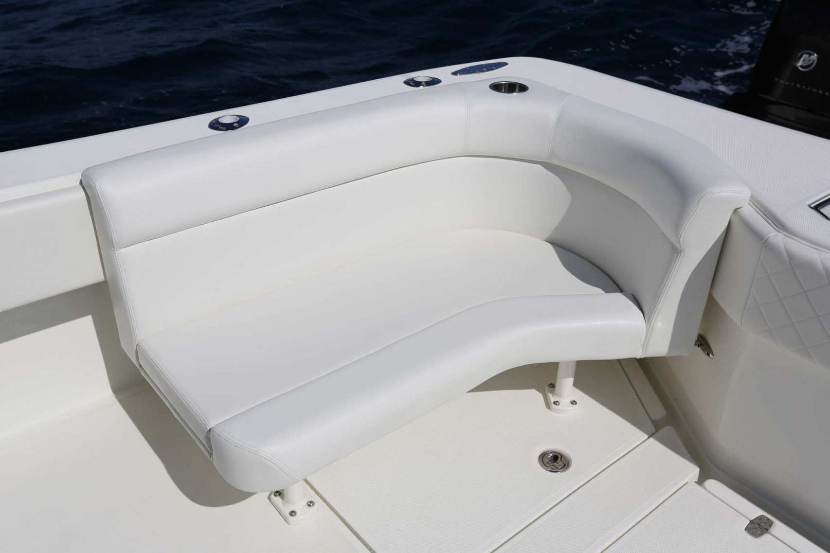 two seat folding chair lounge chairs with footstools center consoles - luxury edition seavee boats