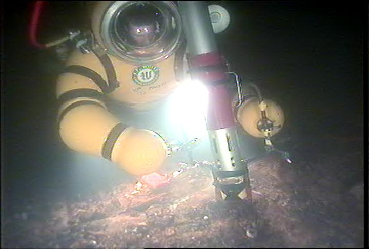 A diver is shown using SeaView's ROV support services.