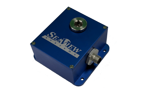 The SeaView Systems SVS-603ME enclosure box for the SVS-603 wave sensor is shown.