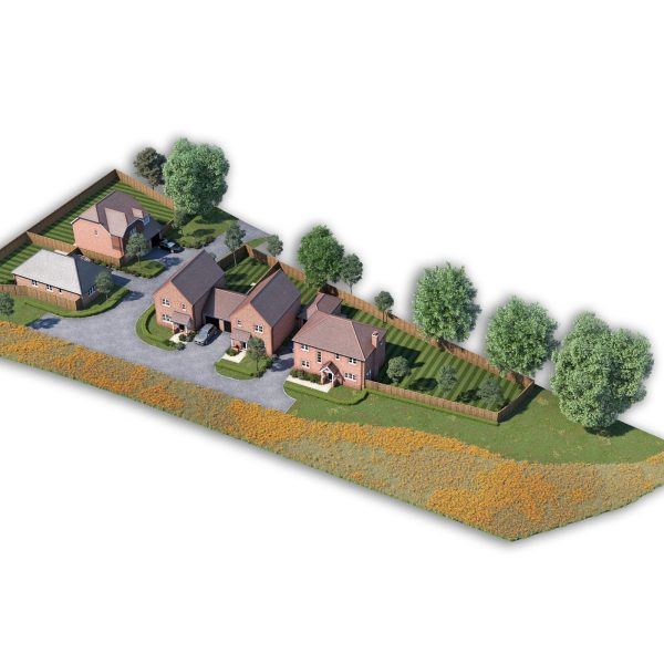 Aerial View, Lake Lane Properties