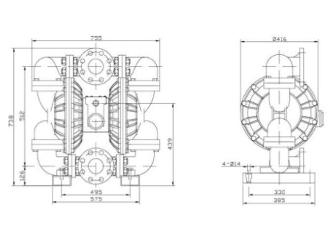 Aluminum Pneumatic Diaphragm Pumps for construction