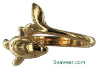 dolphin rings wedding bands