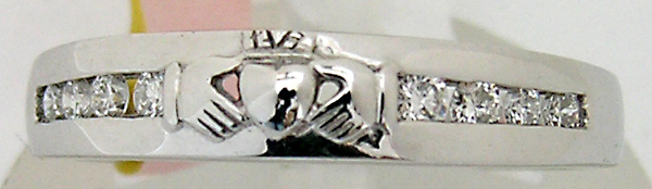 White Gold Eternity Claddagh Ring