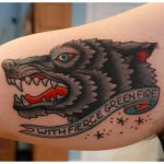 Another wolf tattoo...