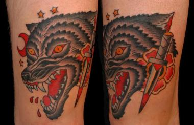more wolf tattoos, surprised?, minneapolis tattoo shops, minnesota tattoo shops, minnesota tattoos, sea wolf tattoo company, wolf tattoos, traditional tattoos