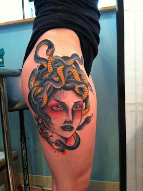 medusa tattoo, minneapolis tattoo shops, minnesota tattoo shops, minnesota tattoos, sea wolf tattoo company, traditional tattoos