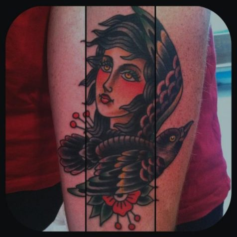 Bird Lady Tattoo