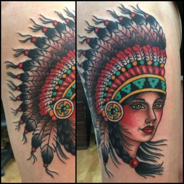 native beauty, jason walstrom tattoos, minneapolis tattoo shops, minnesota tattoo shops, native american tattoo, traditional tattoo, traditional tattoos
