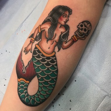 mermaid and some other lady tattoos!, female tattoos, jason walstrom tattoos, minneapolis tattoo shops, minnesota tattoo shops, traditional tattoo, traditional tattoos