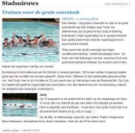 Artikel Den Helder actueel 11-06-2013
