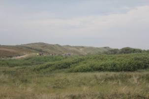 De lopers door de duinen...