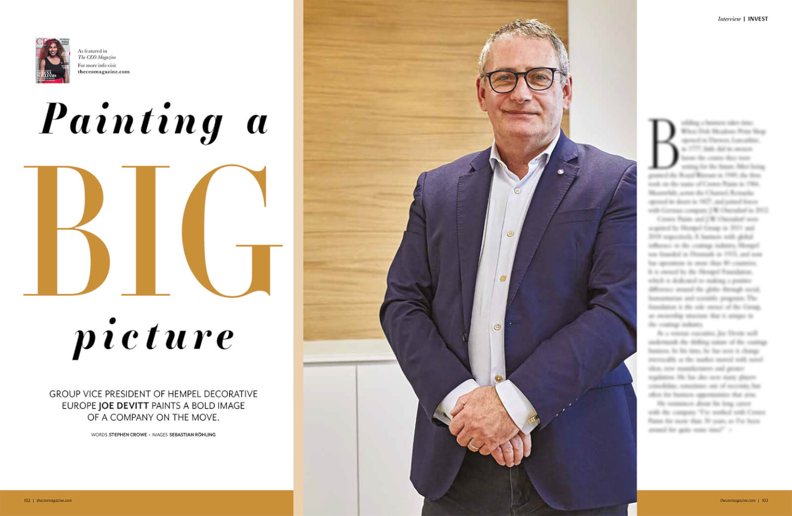 The CEO Magazine EMEA - Joe Devitt Article-1