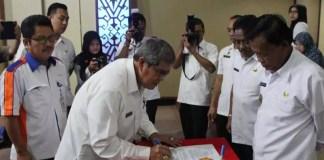 DKP Kota Metro Adendum Perjanjian dengan Bulog Terkait Cadangan Pangan