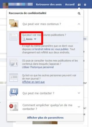 Limitation a vos amis uniquement à votre profil Facebook