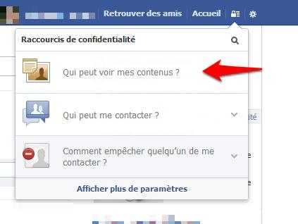 Comment accéder au réglages de confidencialité sur Facbeook