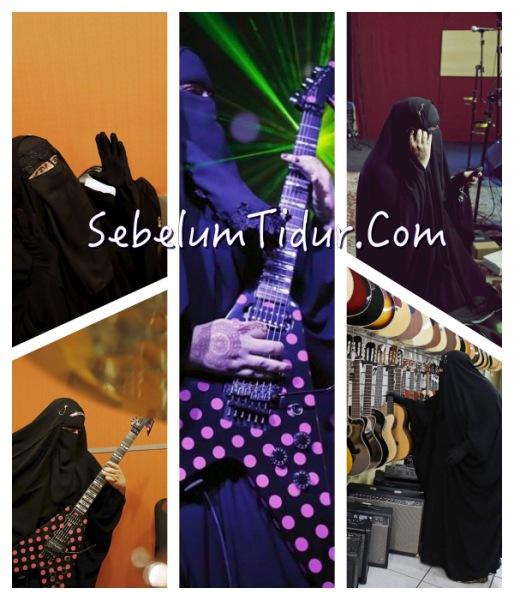 5 Foto Gisele Marie Gitaris Heavy Metal Bercadar Asal Brasil