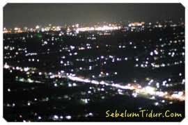 Foto Bukit Bintang Gunung Kidul Di Malam Hari, Bukit Bintang Wonosari Jogja