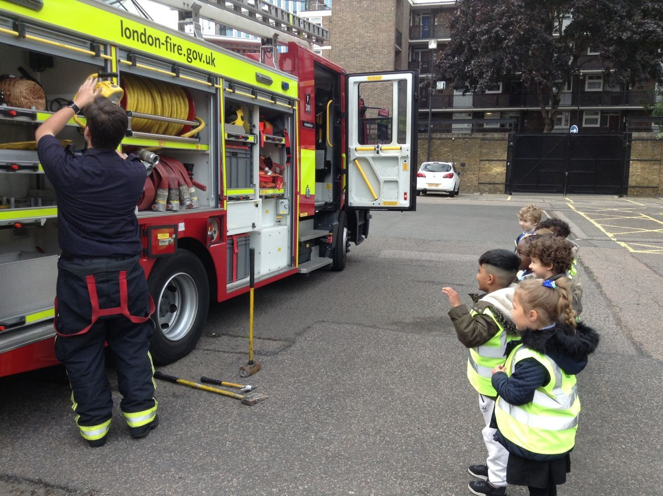 Red Class Trip To Shoreditch Fire Station