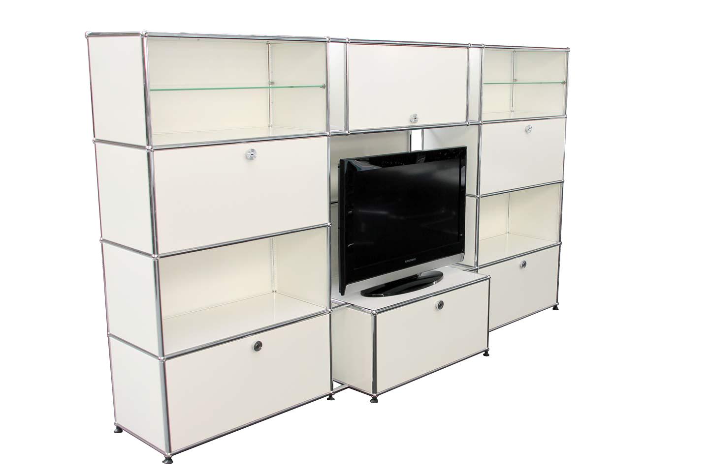 usm haller etagere murale meuble multimedia blanc pur ral 9010