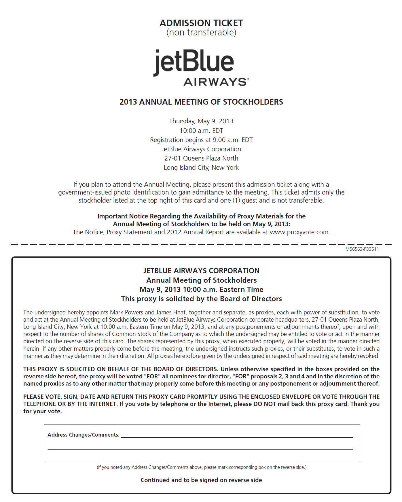 jetblue airways corporation 2013 proxy statement 57