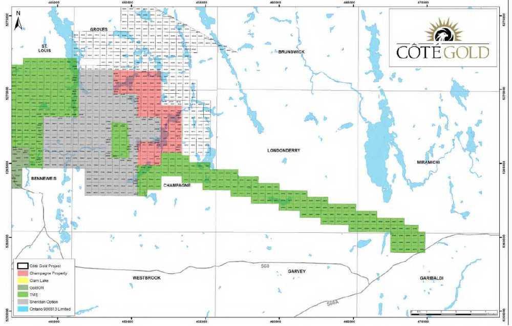 medium resolution of figure 4 8 iamgold regional property interests east area