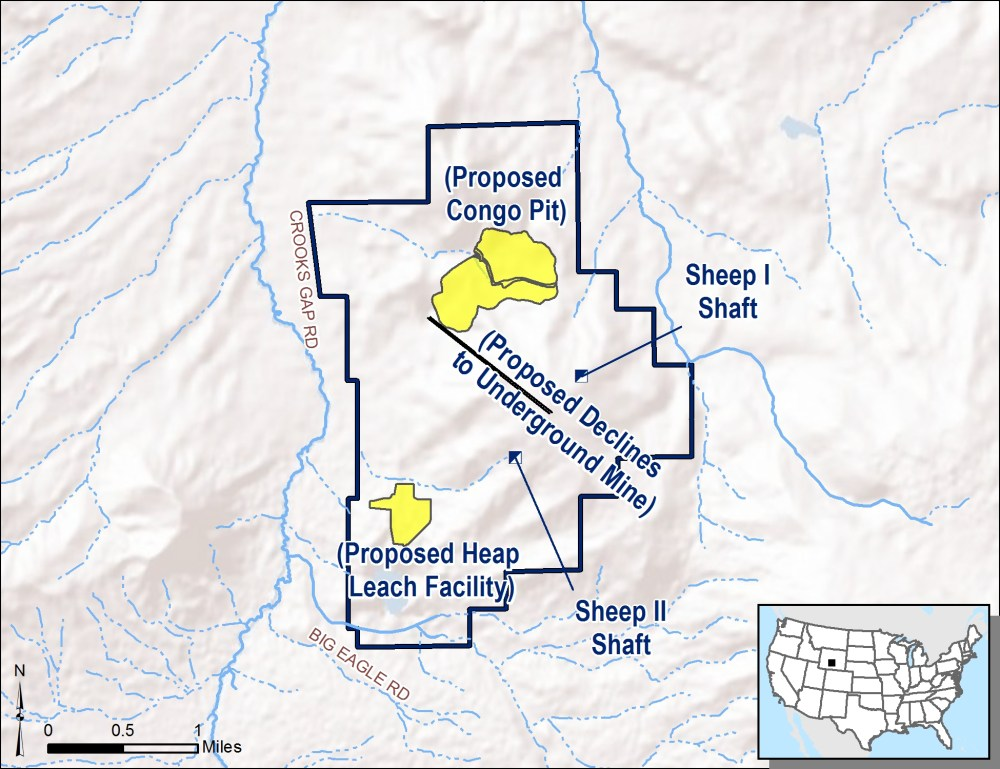 medium resolution of the preferred alternative for the development of the sheep mountain project begins the operation with the open pit and heap leach facility and brings the