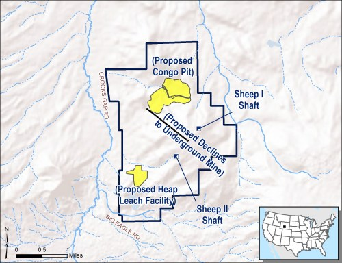 small resolution of the preferred alternative for the development of the sheep mountain project begins the operation with the open pit and heap leach facility and brings the